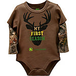 John Deere Boys' Infant  Long Sleeve Body Shirt Camo, J2B354DNT
