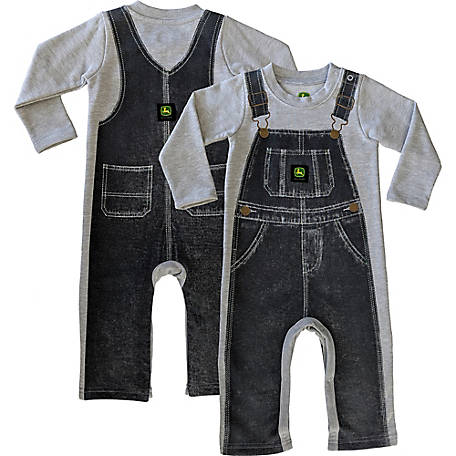 John Deere Boys' Infant Boy's Long Sleeve Denim Coverall, J2R137HFT