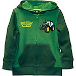 John Deere Boys' Toddler Long Sleeve Tractor Zip Up Fleece, J2J390GTT