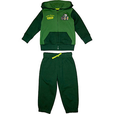 John Deere Boys' Infant Boy's Long Sleeve Tractor Jacket Set, J2S358GFT