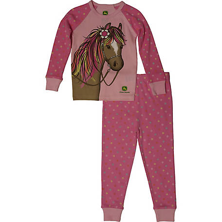 John Deere Girls' Toddler Girl's Pj Set Horse, J2S225PTT