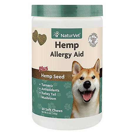 NaturVet Allergy Hemp Soft Chew 60Ct, 79905901