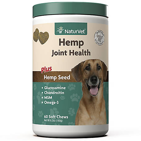 NaturVet Joint Hemp Soft Chew 60Ct, 79905921