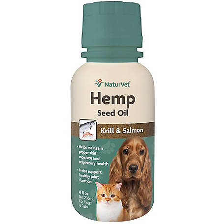 NaturVet Hemp Seed Oil Krill Salmon 8 oz., 79905951
