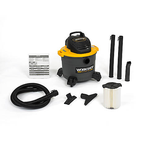 Workshop WS0915VA General Purpose Wet/Dry Vacuum, 9 gal., 4.25 Peak HP, WS0915VA
