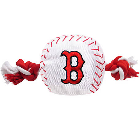 Pets First Boston Red Sox Nylon Baseball Rope Toy, RSX-3105