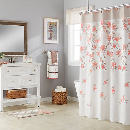 SKL Home Coral Garden Fabric Shower Curtain