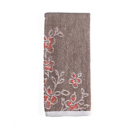 SKL Home Coral Garden Hand Towel Taupe