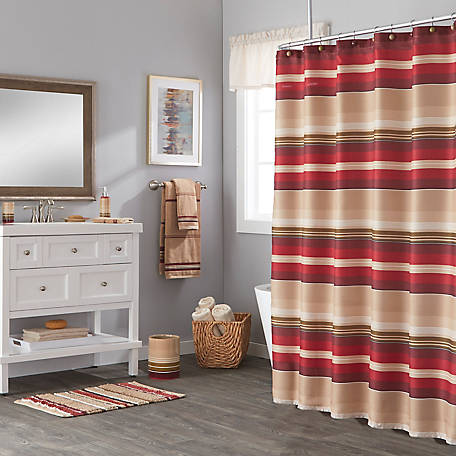 SKL Home Madison Stripe Fabric Shower Curtain