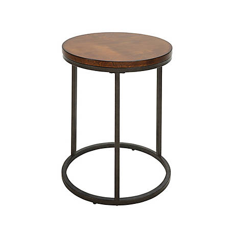 Carolina Chair & Table Rustic Round Side Table, TSTT1818WT