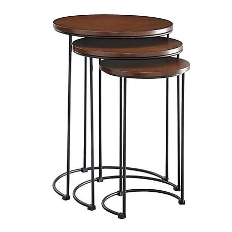 Carolina Chair & Table Round Nesting Tables, TSNS2817CHETBK