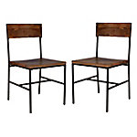 Carolina Chair & Table Set of 2 Chestnut Chairs, TS2018CHETBK