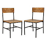 Carolina Chair & Table Set of 2 Natural Chairs, TS2018NMNGTBK