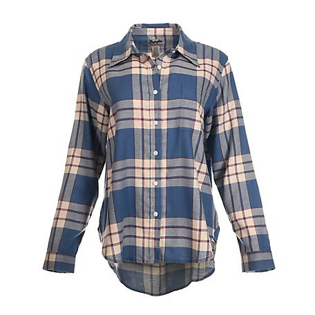 Wrangler Women's Wrangler Women's Long Sleeve Plaid Boyfriend Fit Flannel
