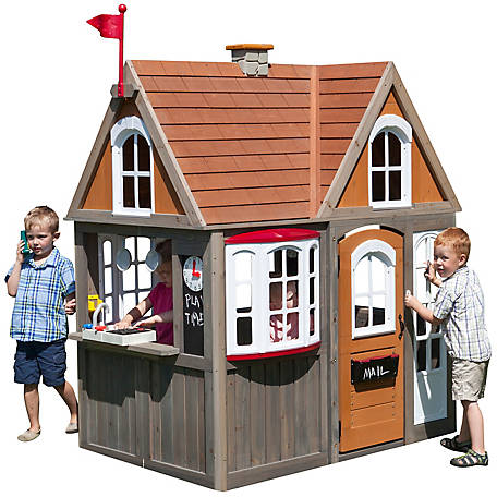 KidKraft Greystone Cottage Playhouse with EZ Assembly, P280093