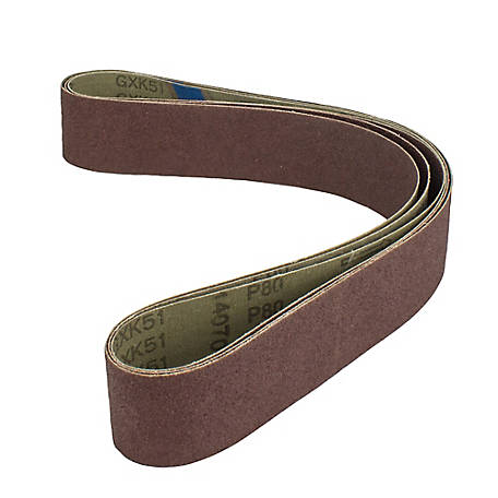 Norse Replacement Sanding Belt 80 Grit 3-Pack, 9681349