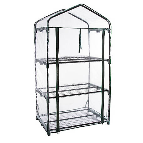 Genesis 3 Tier Portable Rolling Greenhouse Clear Cover, GEN-3PVC
