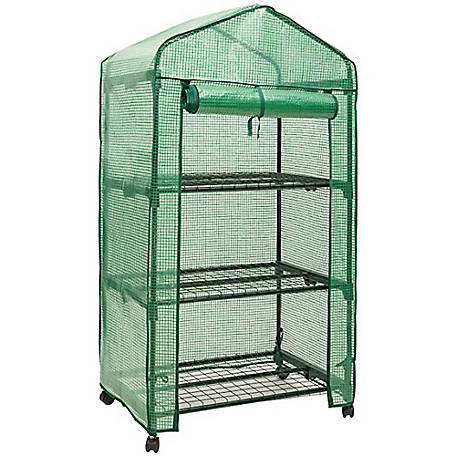 Genesis 3 Tier Portable Rolling Greenhouse Opaque Cover, GEN-3PE