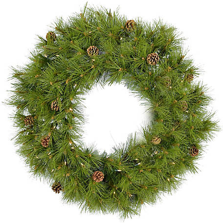 Fraser Hill Farm 36 in. Eastern Pine Artificial Wreath, FFEP036W-5GRB