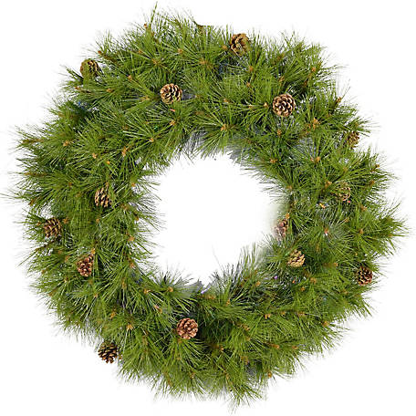 Fraser Hill Farm 48 in. Eastern Pine Artificial Wreath, FFEP048W-0GR