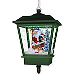 Fraser Hill Farm 18 in. Hanging Musical Santa Claus Lantern in Green, FSHL018SQA-GN