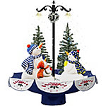 Fraser Hill Farm 29 in. Musical Snowman Family Scene Blue, FSSM029A-BLU