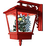 Fraser Hill Farm 18 in. Musical Wall-Mount Christmas Tree Lantern, FSWL018SQA-RD