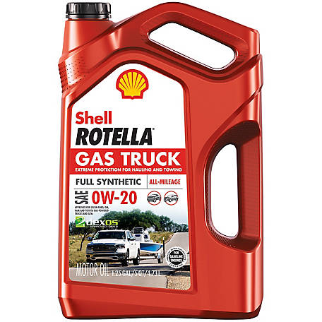 Shell Rotella Gas Truck 0W20 Full Synthetic Oil 5 qt., 550050311