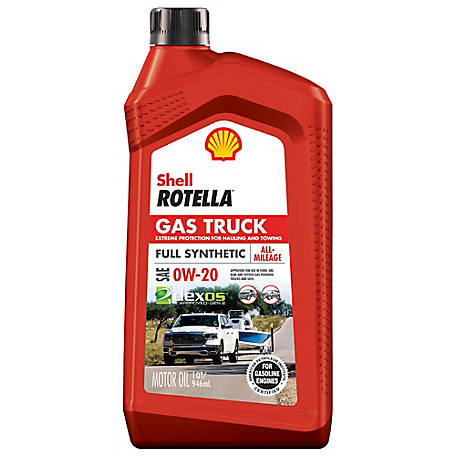 Shell Rotella Gas Truck 0W20 Full Synthetic Oil 1 qt., 550050310