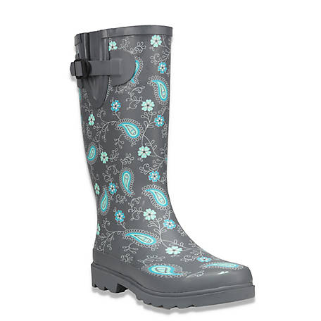 Western Chief Women's Prim Paisley Rubber Boots