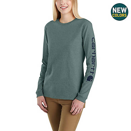 Carhartt Women's Long Sleeve WK231 Logo Tee, 103401