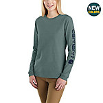 Carhartt Women's Long Sleeve WK231 Logo Tee Shirt, 103401
