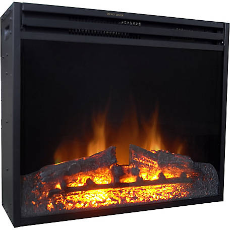 Cambridge 28 in. Freestanding Fireplace Insert, CAM28INS-1BLK