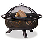 Endless Summer Oil Rubbed Bronze Wood Geometric Bowl Fire Pit WAD1009SP