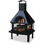 Endless Summer Black Wood Burning Outdoor Firehouse WAF1013C