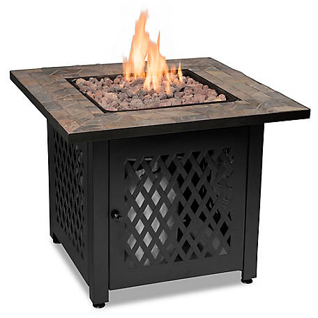 Endless Summer LP Gas Outdoor Fire Table With Slate Tile Mantel GAD1429SP