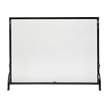 UniFlame Small Single Panel Black Wrought Iron Screen, S1127