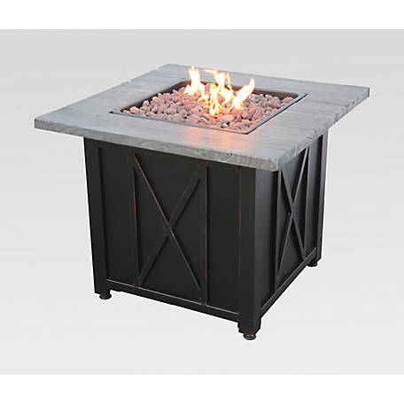 Endless Summer 30 In Square Lp Gas Fire Pit With Wood Resin Mantel 30k Btu Gad1450sp At Tractor Supply Co