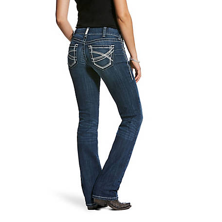 Ariat Women's R.E.A.L. Mid Rise Stretch Ivy Stackable Straight Leg Jean