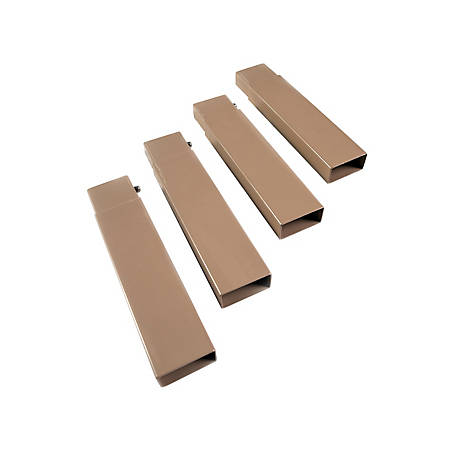 Disc-O-Bed Set of 4 Leg Extensions, 19802/TAN