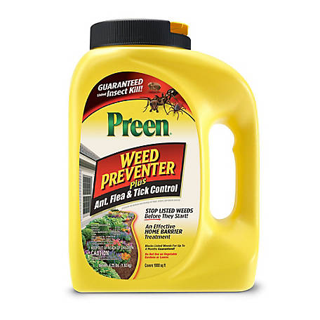 Preen Weed Preventer Plus Ant, Tick and Flea Control - 4.25 lb., 2464188