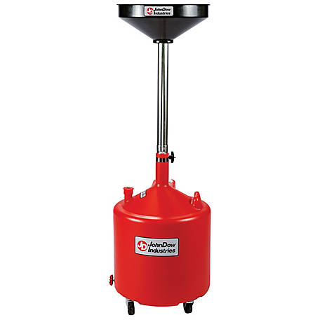 JohnDow Industries 18 gal. Economy Portable Poly Oil Drain, JDI-18DCP