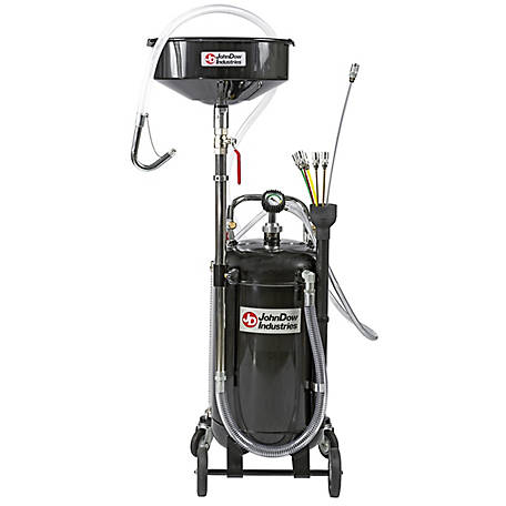 JohnDow Industries 20-gal. Oil Drain/Fluid Evacuator Combo, JDI-20COMBO