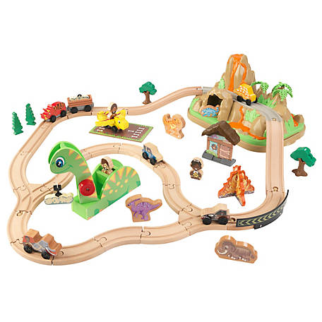 KidKraft Dinosaur Bucket Top Train Set, 18016