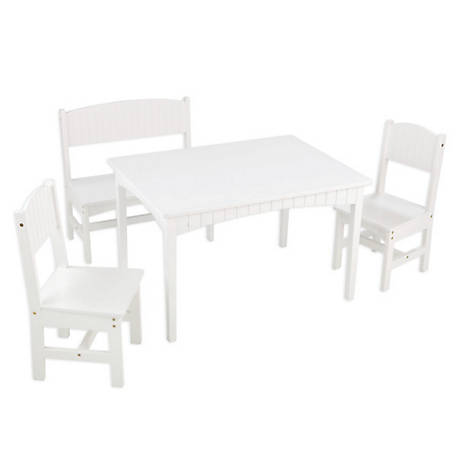 KidKraft Nantucket Table with Bench & 2 Chair Set, 26112