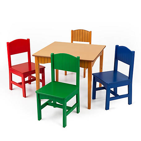 Kidkraft Nantucket Table 4 Chair Set 26101 At Tractor Supply Co