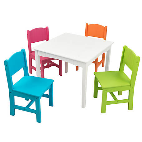 KidKraft Nantucket Table & 4 Chair Set, 26101