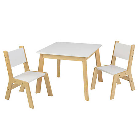 Magnificent Kidkraft Modern Table 2 Chair Set White 27025 At Tractor Cjindustries Chair Design For Home Cjindustriesco