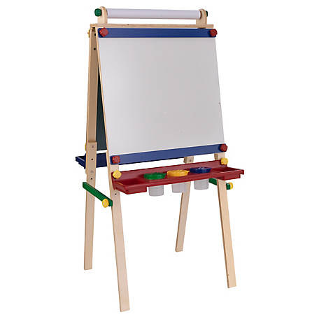 KidKraft Artist Easel With Paper Roll, Primary, 62028