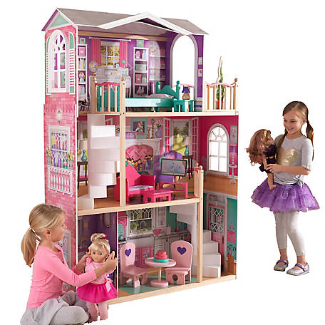 KidKraft 5.45 ft. Dollhouse Doll Manor - Compatible for 18 in Dolls, 65830